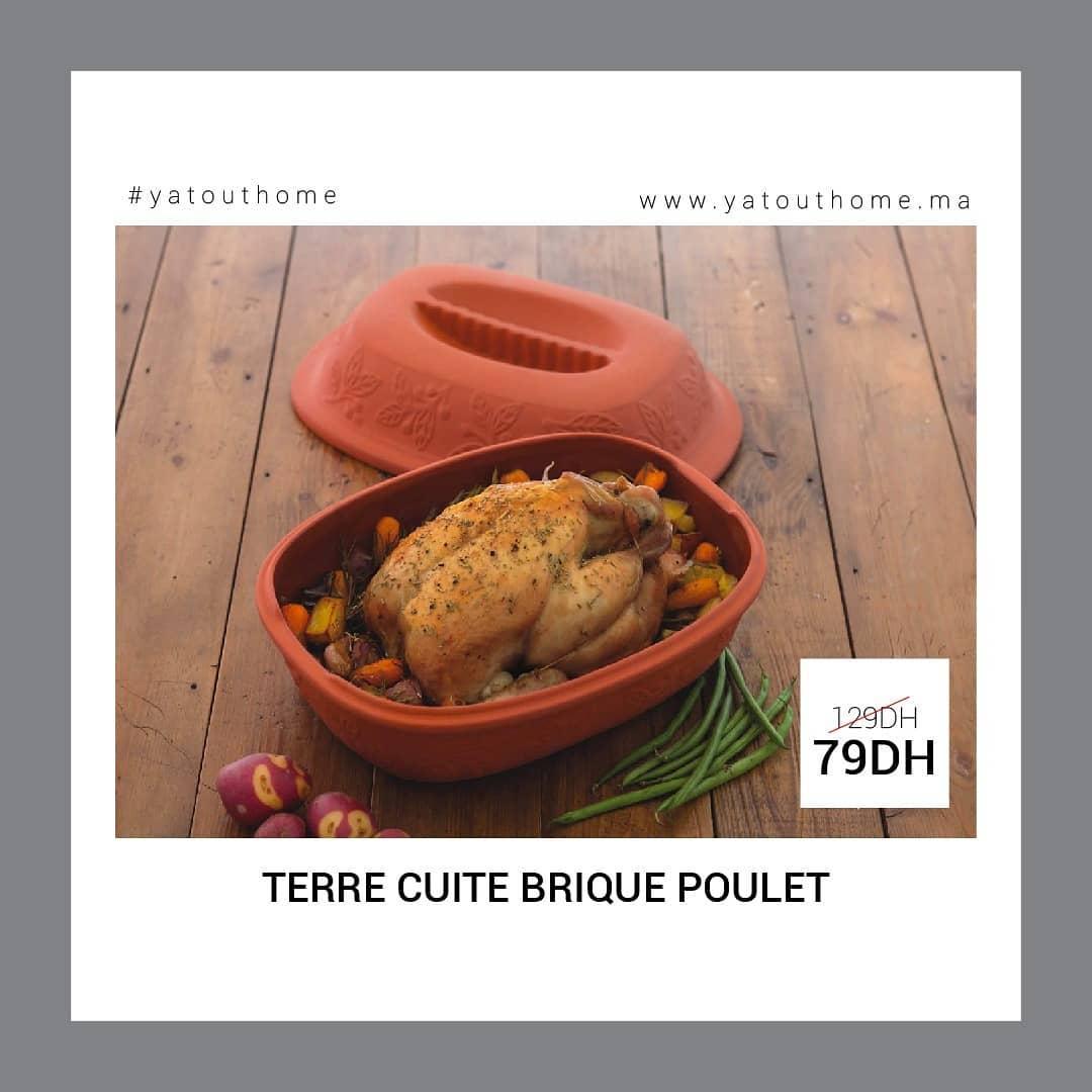Promo Yatout Home Terre cuite Brique Poulet 79Dhs au lieu de 129Dhs