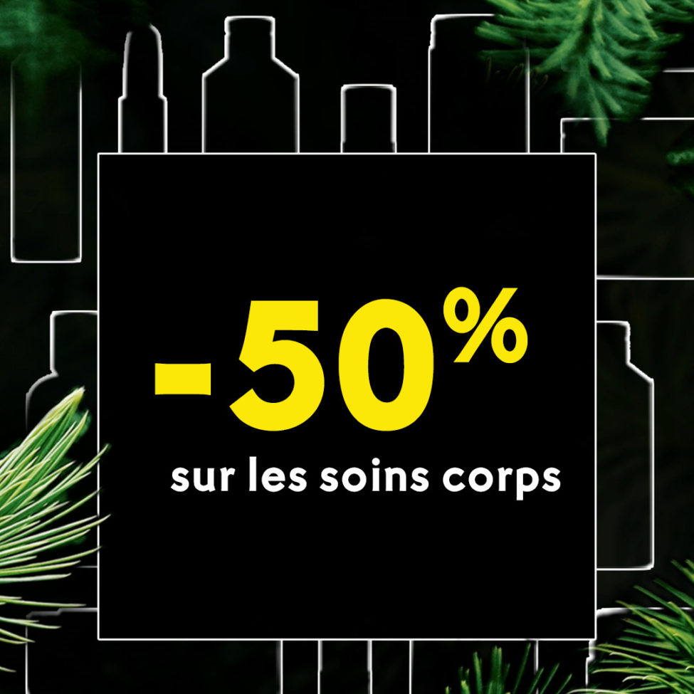 Black Friday Yves Rocher Maroc -50% sur les soins corps jusqu'au 1er décembre 2019