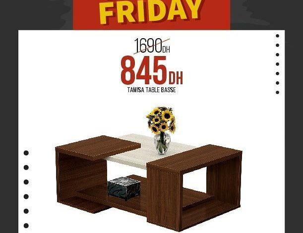 Photo of Black Friday Yatout Home Table Basse TAMISA 845Dhs au lieu de 1690Dhs