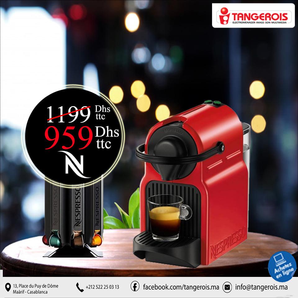 Promo Tangerois Electro -20% à -30% sur les machines NESPRESSO jusqu'au 1 Décembre 2019