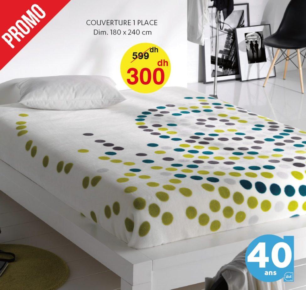 Promo Alpha 55 -50% sur une sélection de couvertures de lit single