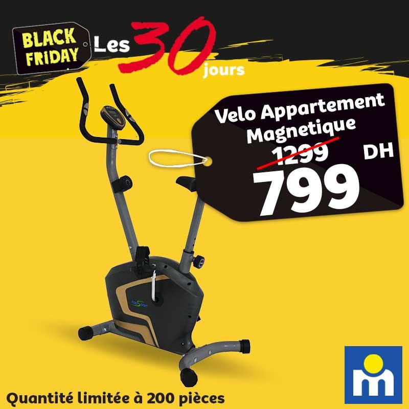 Black Friday Marjane Vélo Appartement Magnétique 799Dhs au lieu de 1299Dhs