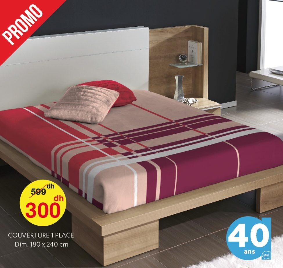 Promo Alpha55 -40% sur une sélection de couvertures de lit single