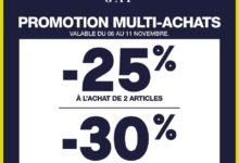 Promo Gap Maroc -25% à l'achat de 2 articles et -30% à l'achat de 3 articles du 06 au 11 novembre 2019