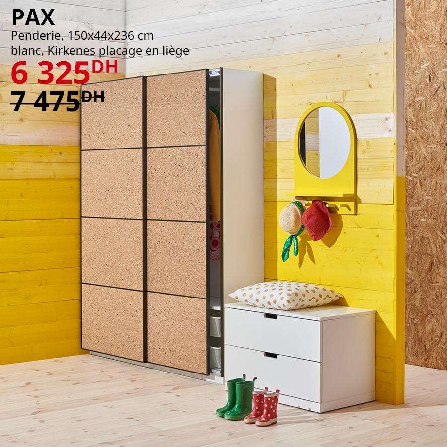Soldes Ikea Maroc Penderie PAX/KOMPLEMENT 6325Dhs au lieu de 7475Dhs