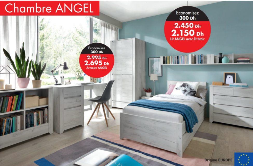Promo Kitea Lit ANGEL avec lit tiroir 2150Dhs au lieu de 2450Dhs