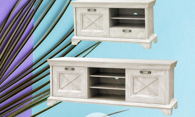 Promo Kitea Grand meuble TV gamme living KASHMIR 2095Dhs au lieu de 2995Dhs