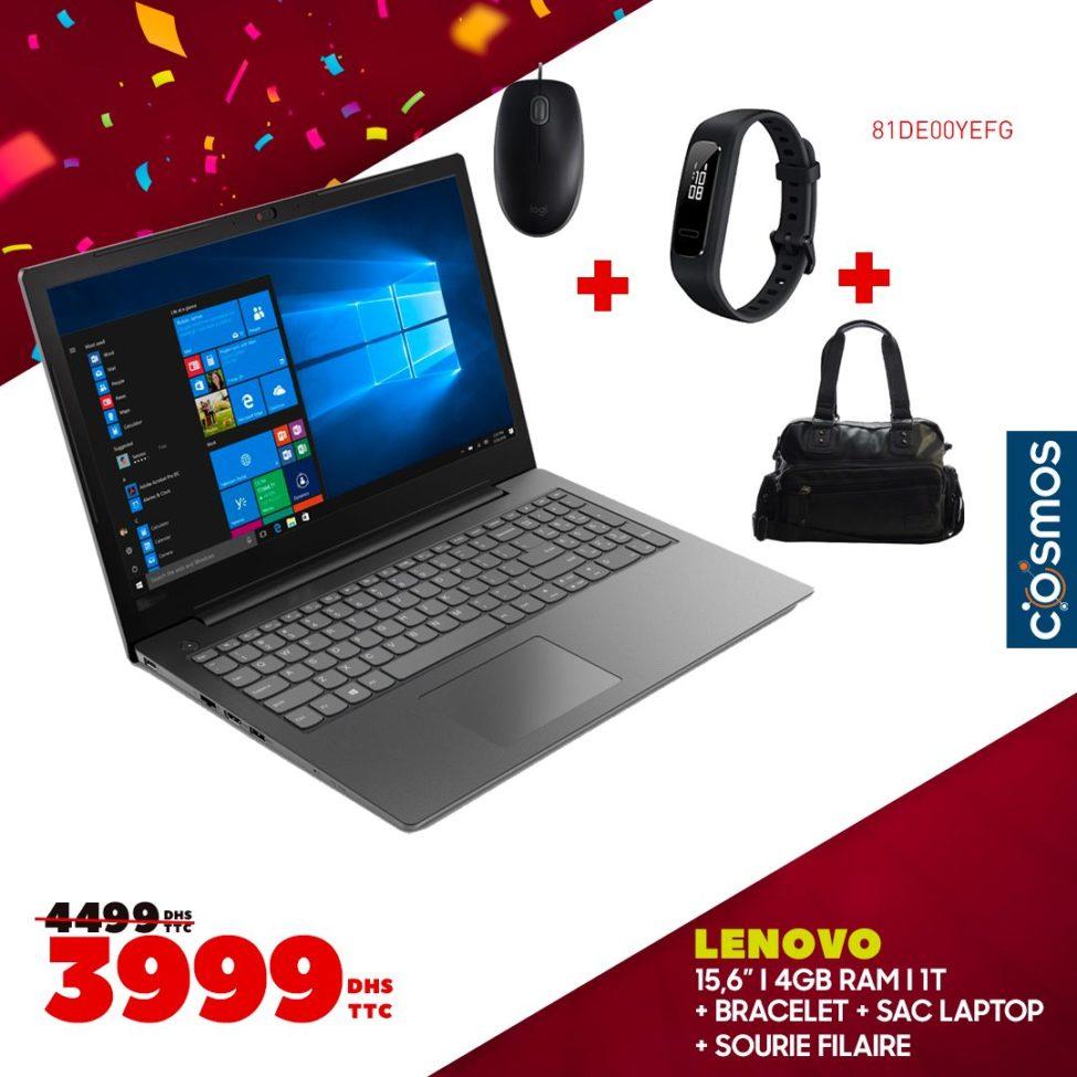 Promo Cosmos Electro Laptop LENOVO + Cadeaux 3999Dhs au lieu de 4499Dhs