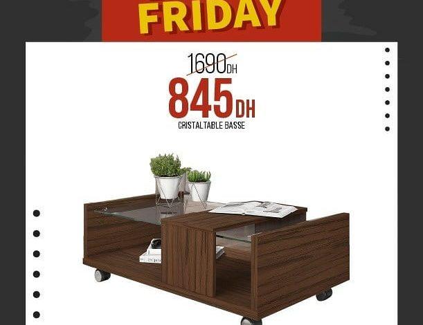Photo of Black Friday Yatout Home Table basse CRISTAL 845Dhs au lieu de 1690Dhs