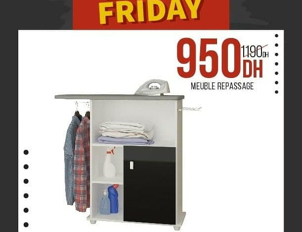 Photo of Offre Black Friday Yatout Home Meuble Repassage 950Dhs au lieu de 1190Dhs