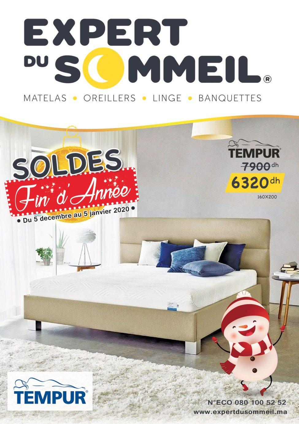 Catalogue Expert du Sommeil Soldes fin d'année du 5 Décembre au 5 Janvier 2019