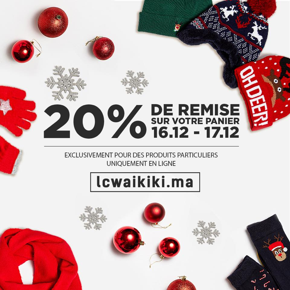 Promo en ligne Aujourd'hui LC Waikiki Maroc -20% pour les produits sélectionnés