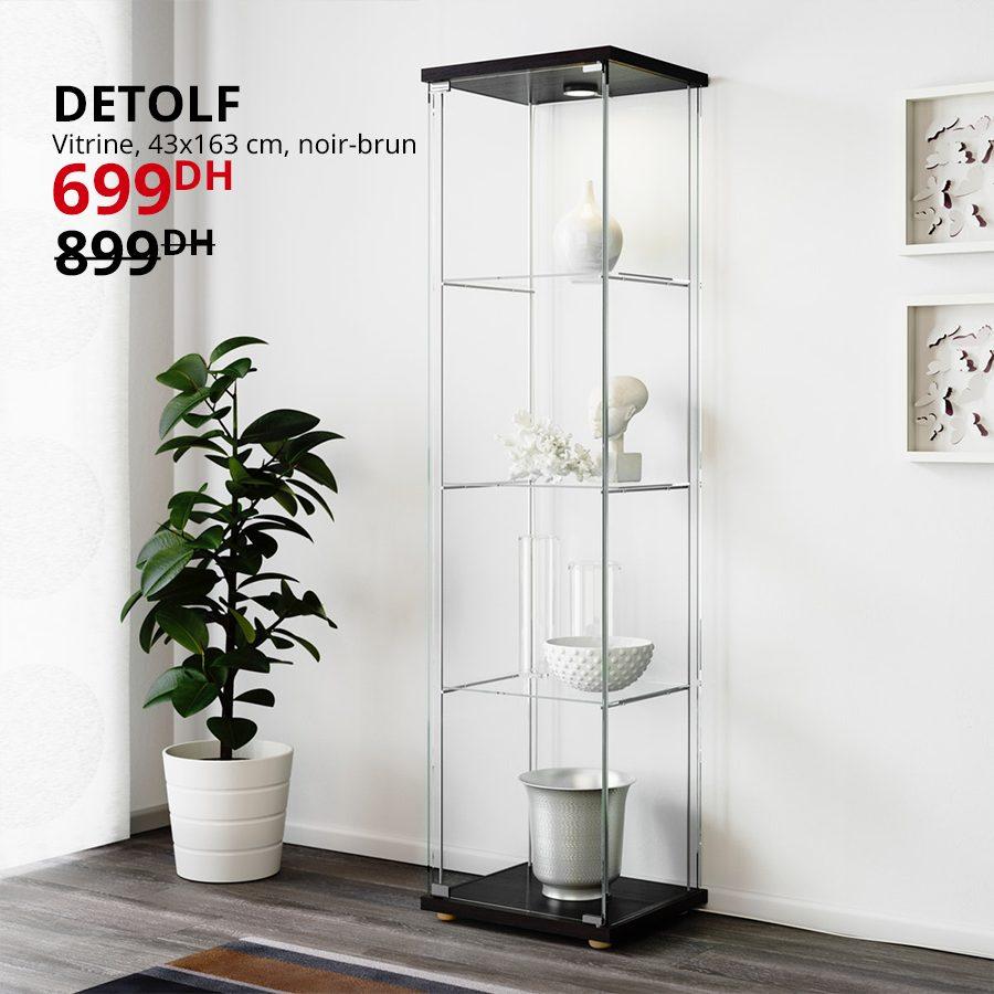 Promo Ikea Maroc Vitrine DETOLF 699Dhs au lieu de 899Dhs
