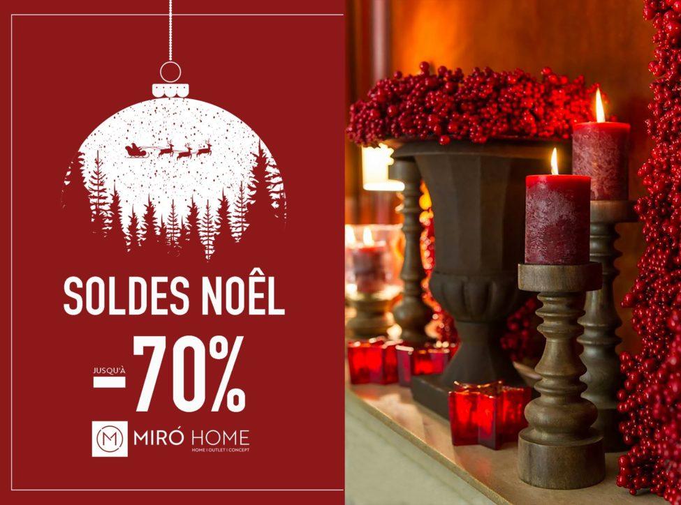 Solde Noël chez MIRO HOME Spéciale Décorations de fêtes Jusqu'à -70% de réduction