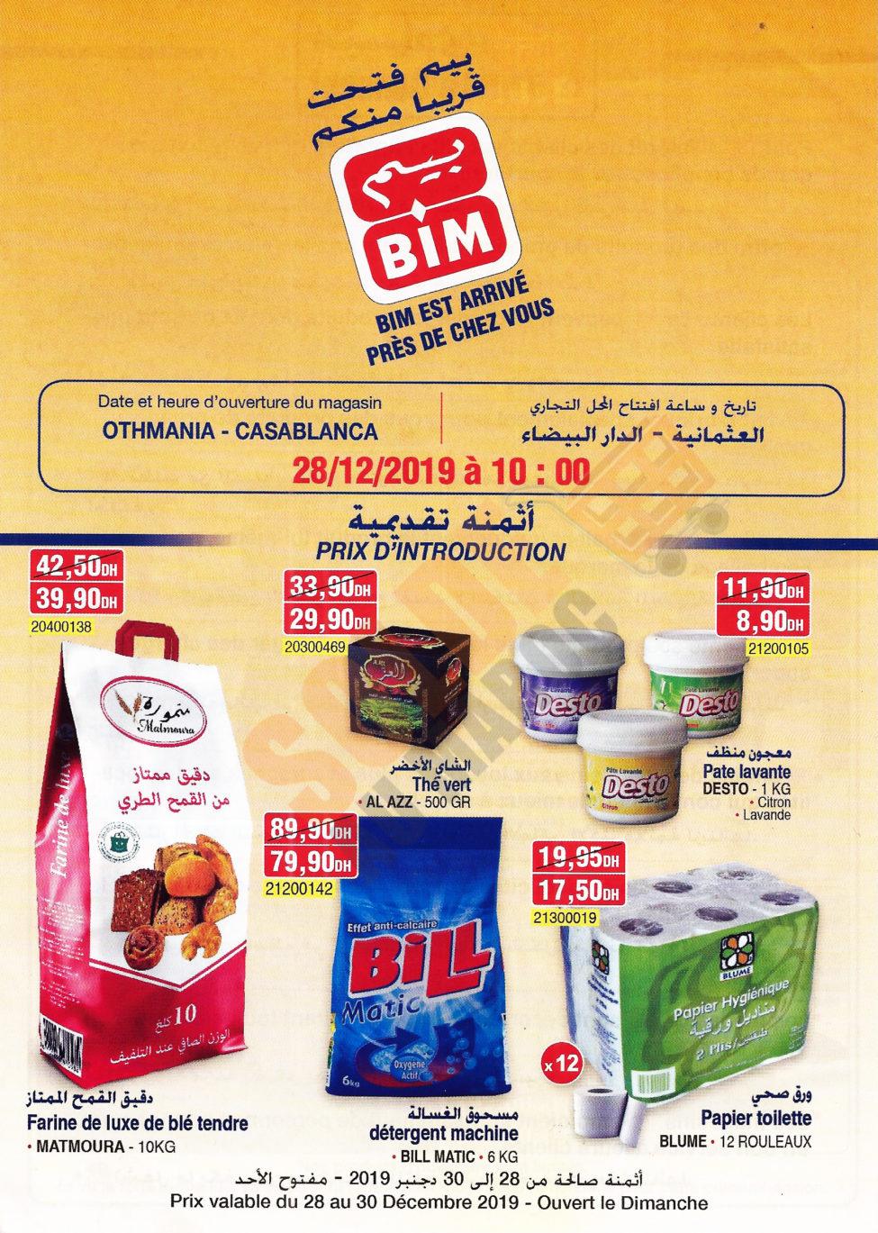 Catalogue Nouvelle Ouverture Bim Othmania Casablanca du 28 au 30 Décembre 2019