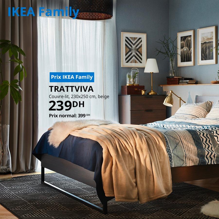 Promo Ikea Family Couvre-lit beige TRATTVIVA 239Dhs au lieu de 399Dhs