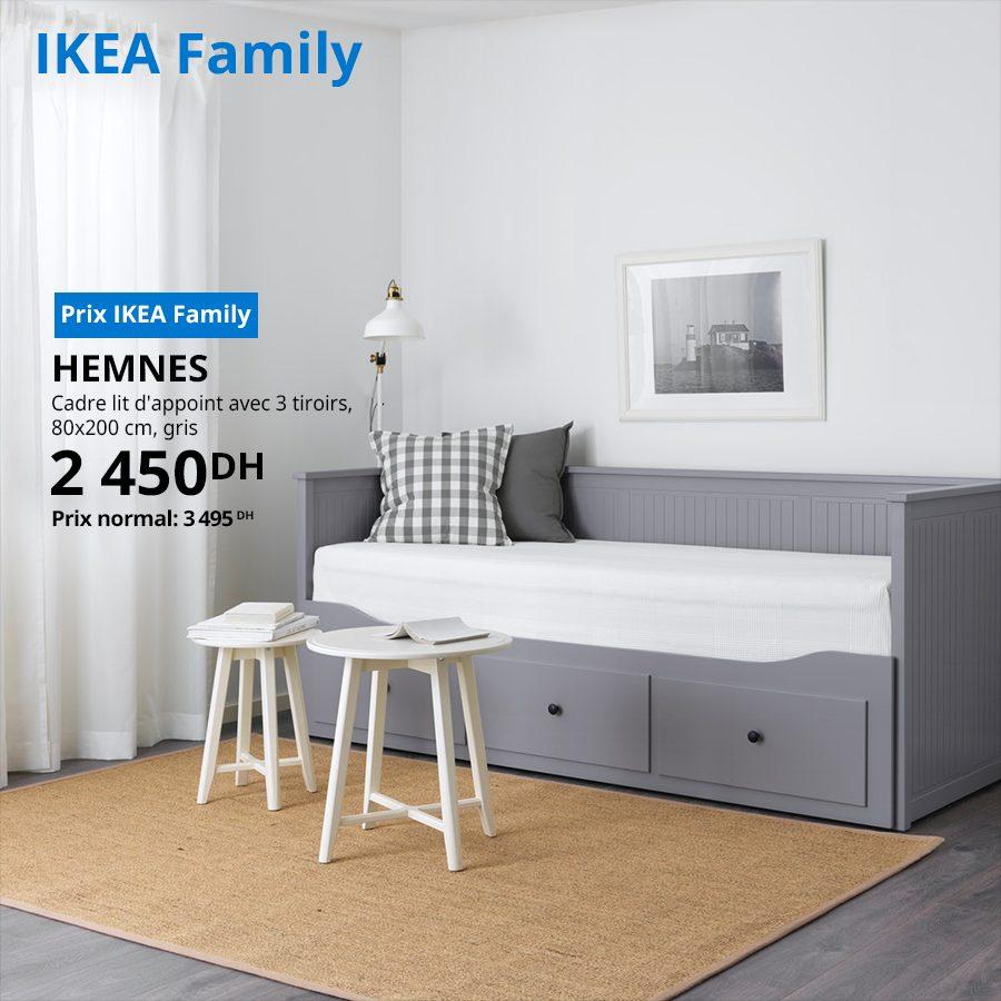 Soldes Ikea Family Cadre Lit D Appoint Avec 3 Tiroirs Hemnes 2450dhs