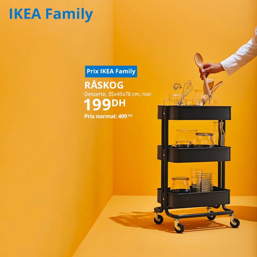 Soldes Ikea Family Desserte RASKOG 199Dhs au lieu de 499Dhs