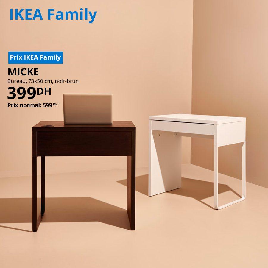Soldes Ikea Family Bureau noir-brun MICKE 399Dhs au lieu de 599Dhs