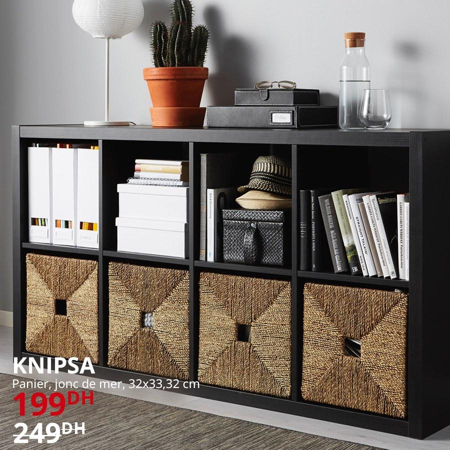 Soldes Ikea Maroc Panier KNIPSA jonc de mer 199Dhs au lieu de 249Dhs