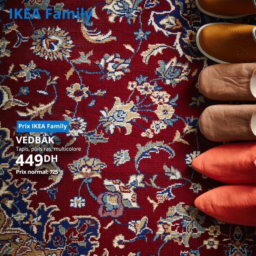 Soldes Ikea Family Tapis polis ras VEDBAK 449Dhs au lieu de 725Dhs