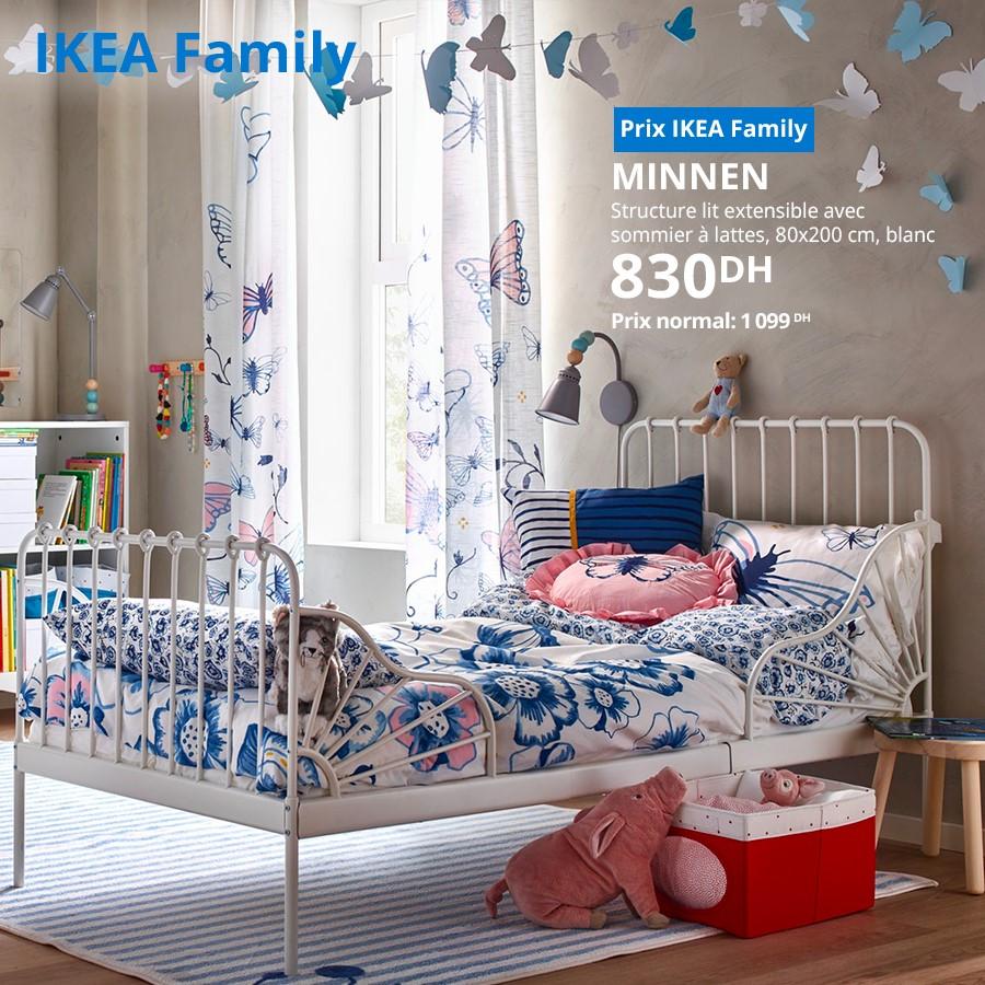 Soldes Ikea Family Structure lit extensible MINNEN 830Dhs au lieu de 1099Dhs