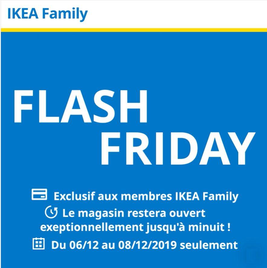 FLASH FRIDAY chez Ikea pour les membres FAMILY du 6 au 8 décembre 2019