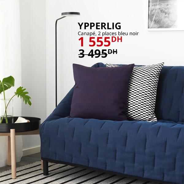 Soldes Ikea Maroc Canapé 2 places YPPERLIG 1555Dhs au lieu de 3495Dhs