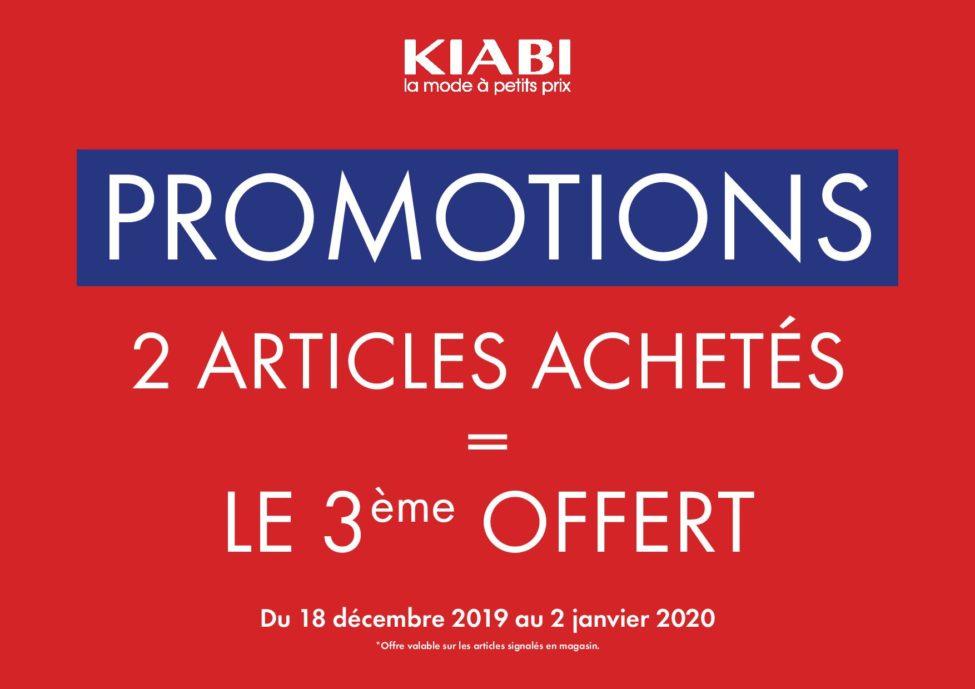 Promo Kiabi Maroc 2=3 du 18 Décembre au 2 Janvier 2020