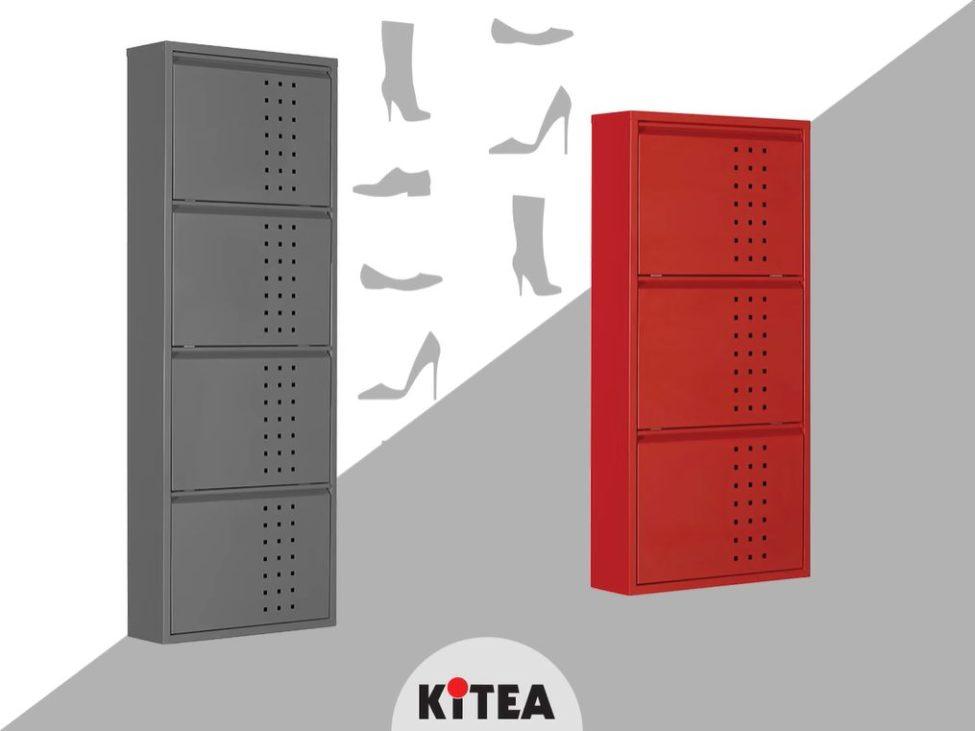 Soldes Kitea Meuble à chaussures IKER à 3 abattants 490Dhs au lieu de 990Dhs