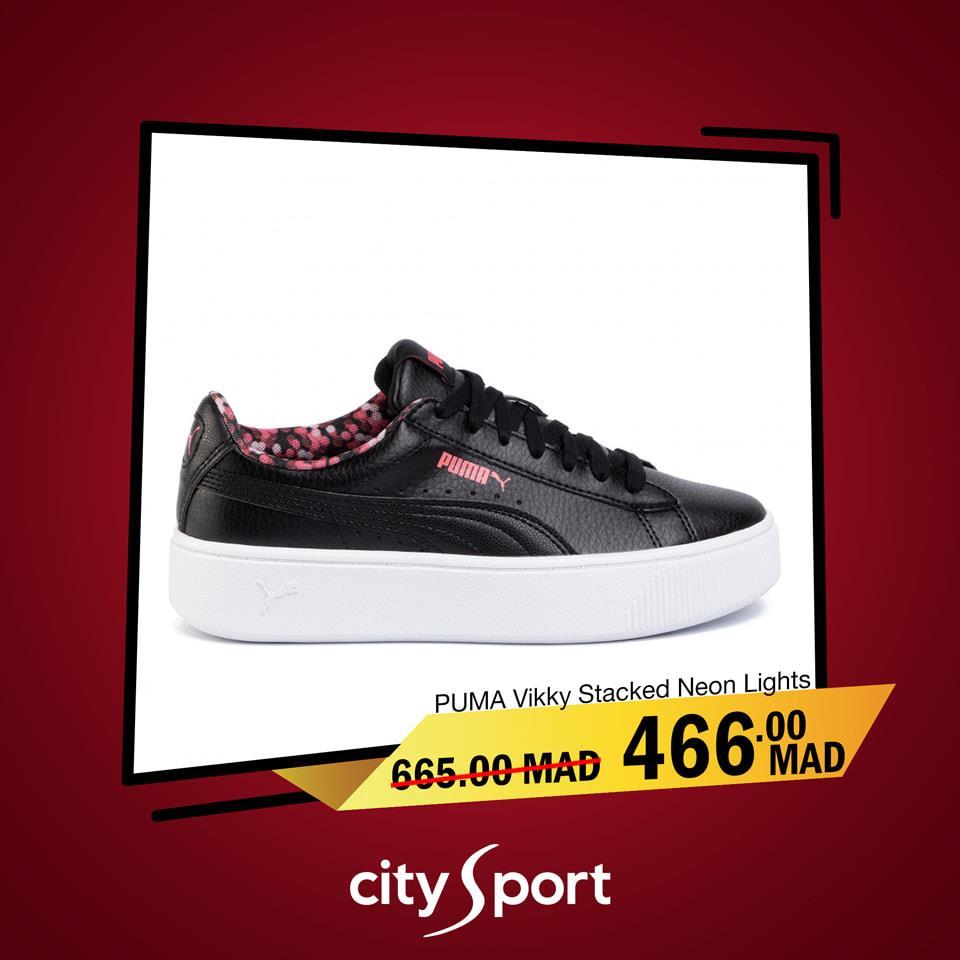 Soldes City Sport Maroc PUMA VIKKY STACKED 466Dhs au lieu de 665Dhs