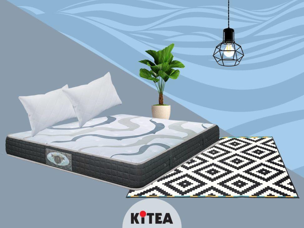 Promo Kitea Matelas BIOZEN GEL + 2 oreillers en coton 4199Dhs au lieu de 4799Dhs