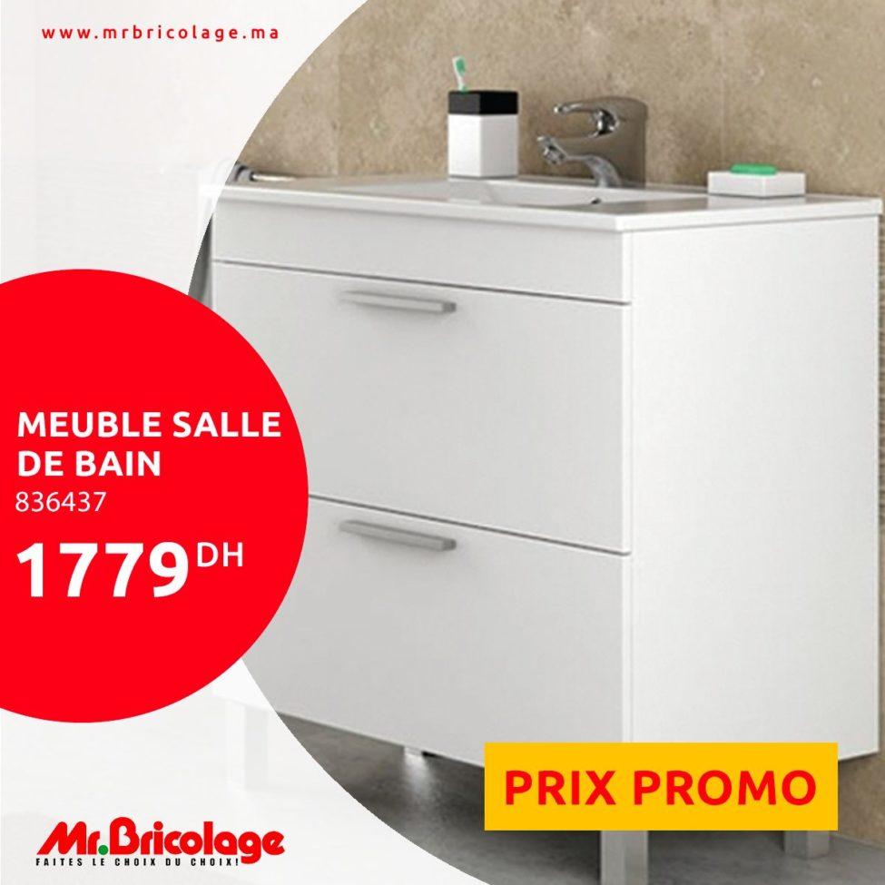 Prix Promotionnel Mr Bricolage Maroc Meuble Salle de bain 15Dhs
