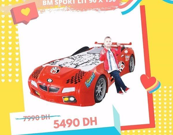 Photo of Promo Yatout Home BM Sport Lit 90×190 5490Dhs au lieu de 7990Dhs