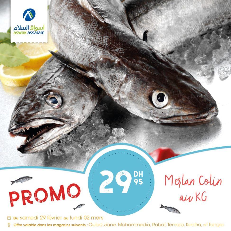 Big Promo du week-end chez Aswak Assalam Poisson frais à prix imbattable