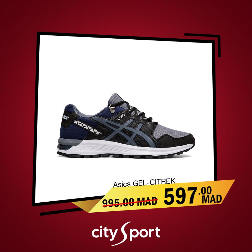 Soldes City Sport ASICS GEL-CITREK 597Dhs au lieu de 995Dhs