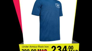 Soldes GO Sport Maroc UNDER ARMOUR Rock IRON 234Dhs au lieu de 390Dhs