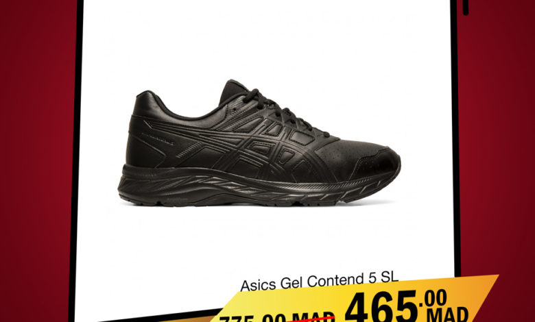Photo of Soldes City Sport ASICS GEL Contend 5 SL 465Dhs au lieu de 775Dhs