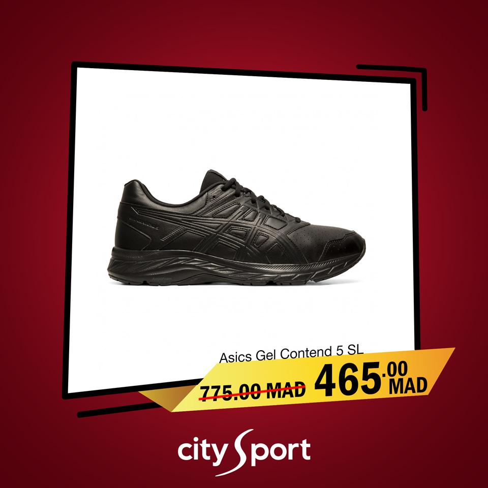 Soldes City Sport ASICS GEL Contend 5 SL 465Dhs au lieu de 775Dhs