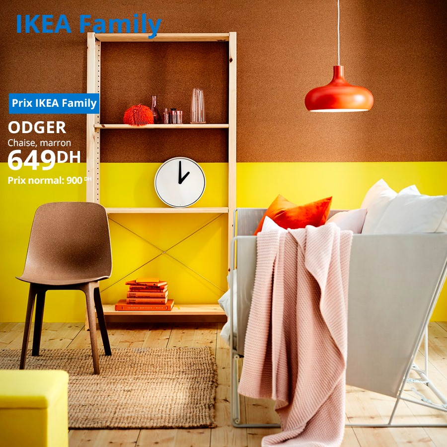 Soldes Ikea Family Chaise marron ODGER 649Dhs au lieu de 900Dhs