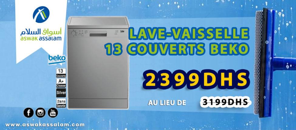 Soldes Aswak Assalam LAVE-VAISSELLE 13 COUVERTS Beko 2399Dhs au lieu de 3199Dhs