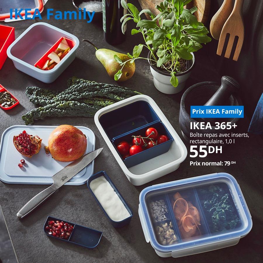 Soldes Ikea Family Boite repas avec inserts 55Dhs au lieu de 79Dhs
