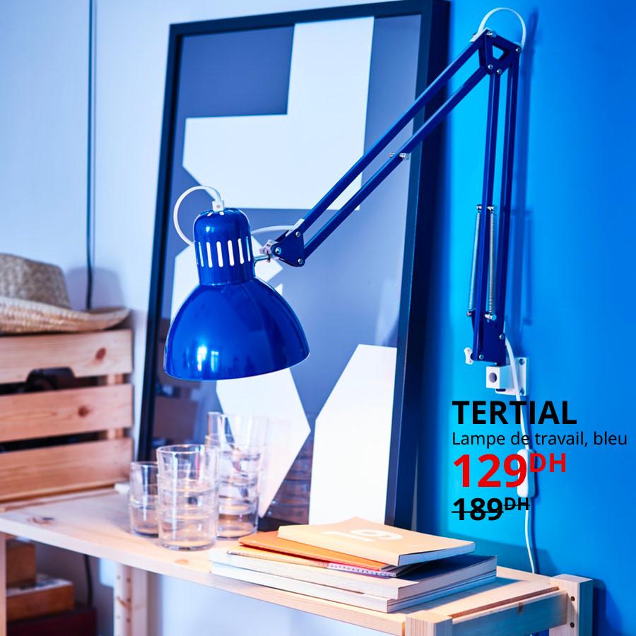 Soldes Ikea Maroc Lampe de travail TERTIAL 129Dhs au lieu de 189Dhs
