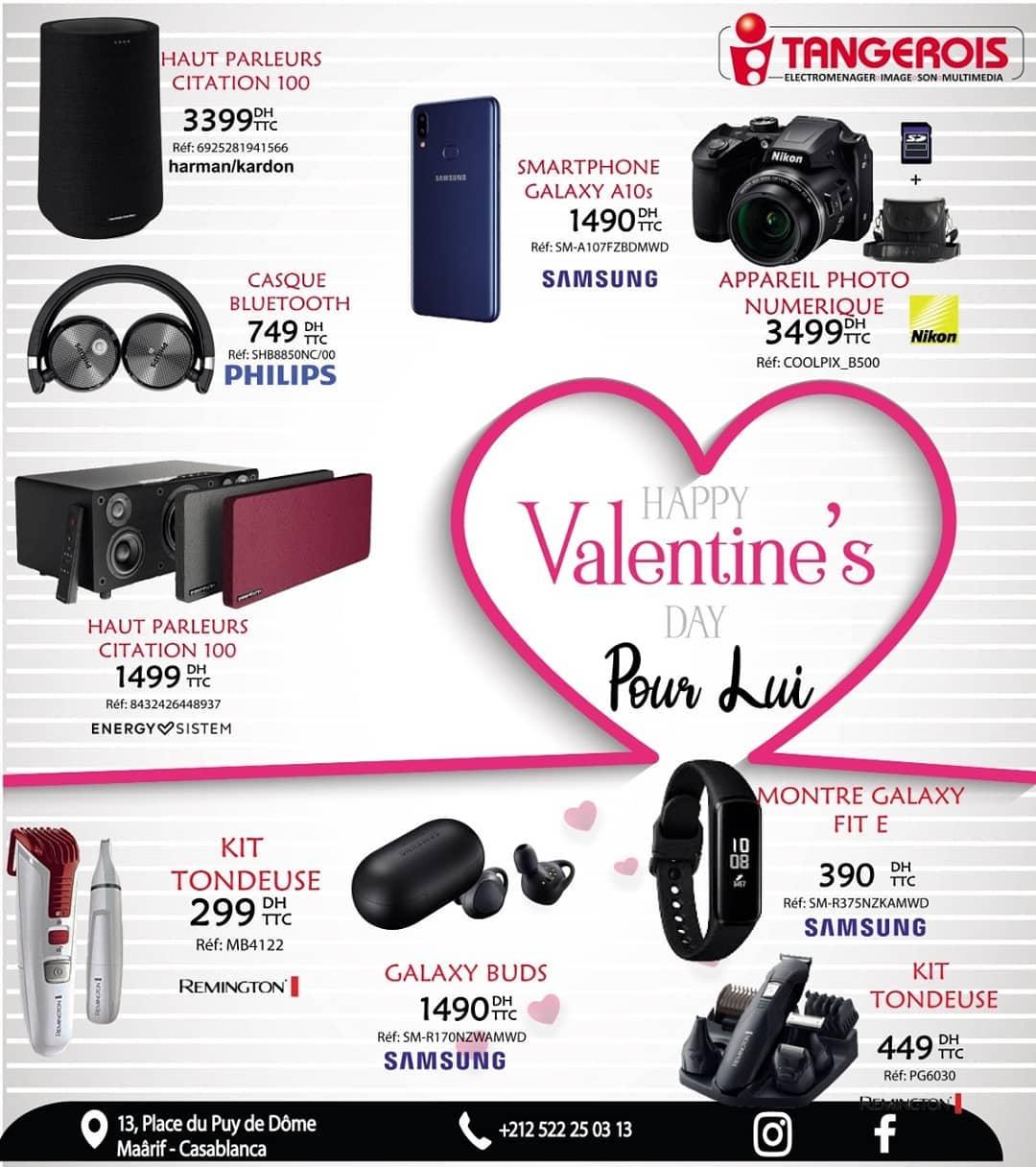 Flyer Spéciale Happy Valentine's DAY chez Tangerois Electro
