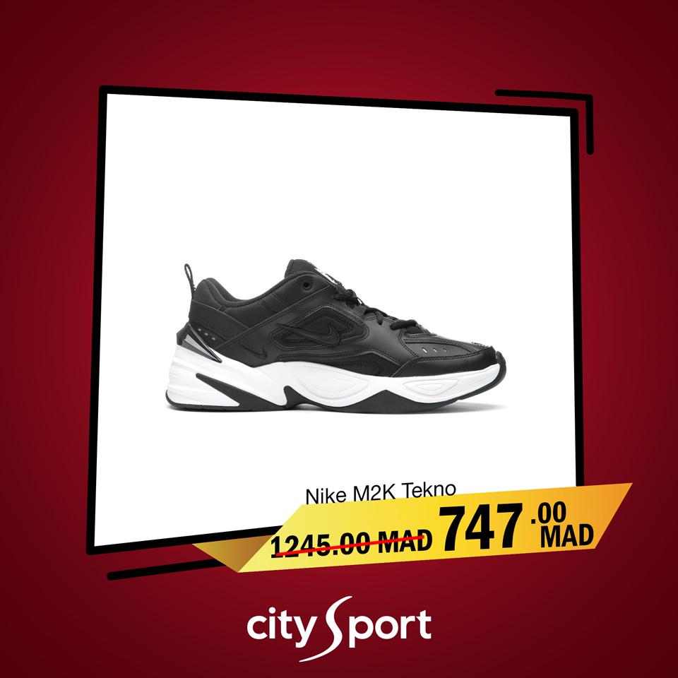 Soldes City Sport Nike M2K Tekno 747Dhs au lieu de 1245Dhs
