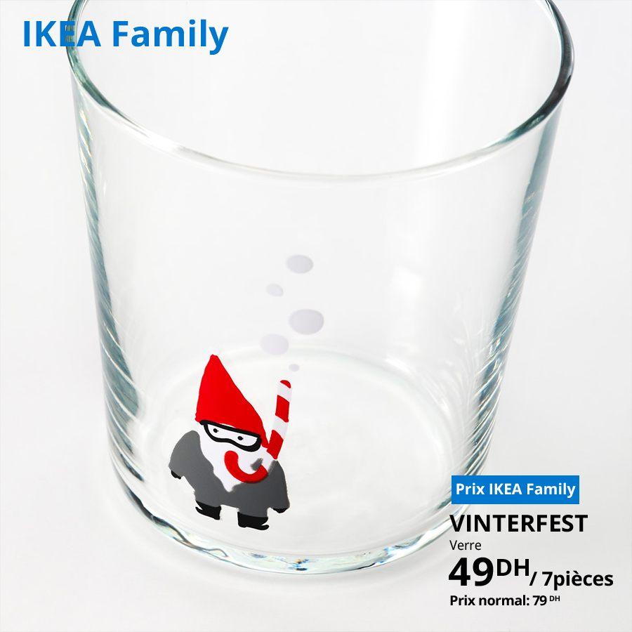 Soldes Ikea Family 7 Verres VINTERFEST à 49Dhs au lieu de 79Dhs