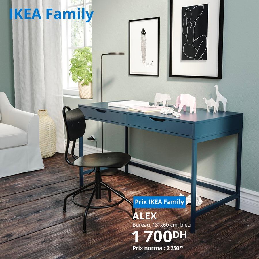 Soldes Ikea Family Bureau bleu ALEX 1700Dhs au lieu de 2255Dhs