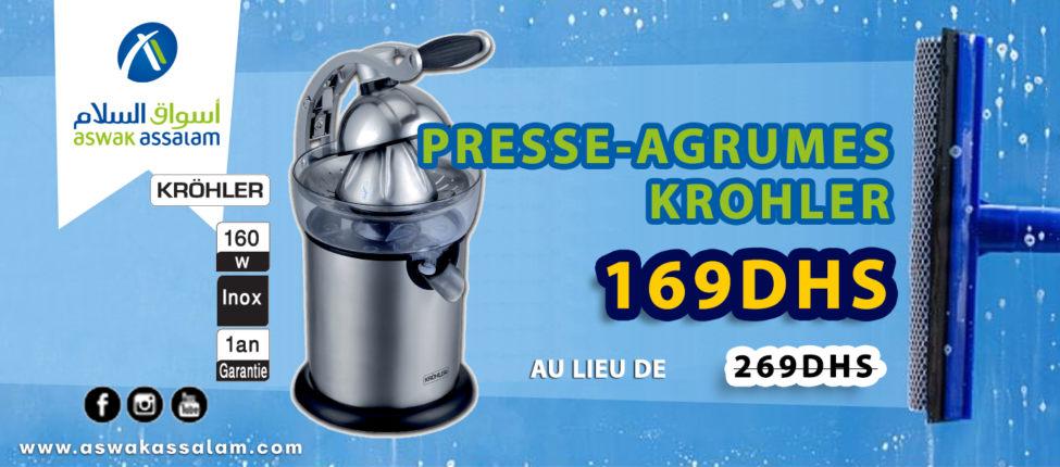 Soldes Aswak Assalam PRESSE-AGRUMES KROHLER 299Dhs au lieu de 379Dhs
