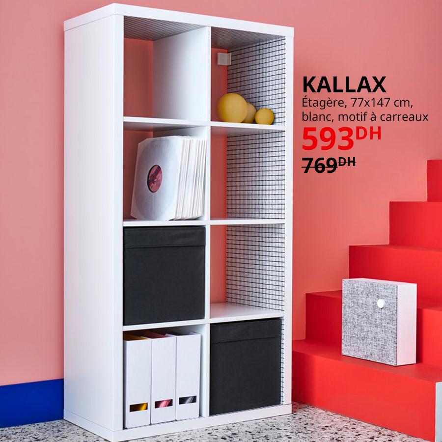 Soldes Ikea Maroc Étagère blanc KALLAX 593Dhs au lieu de 769Dhs
