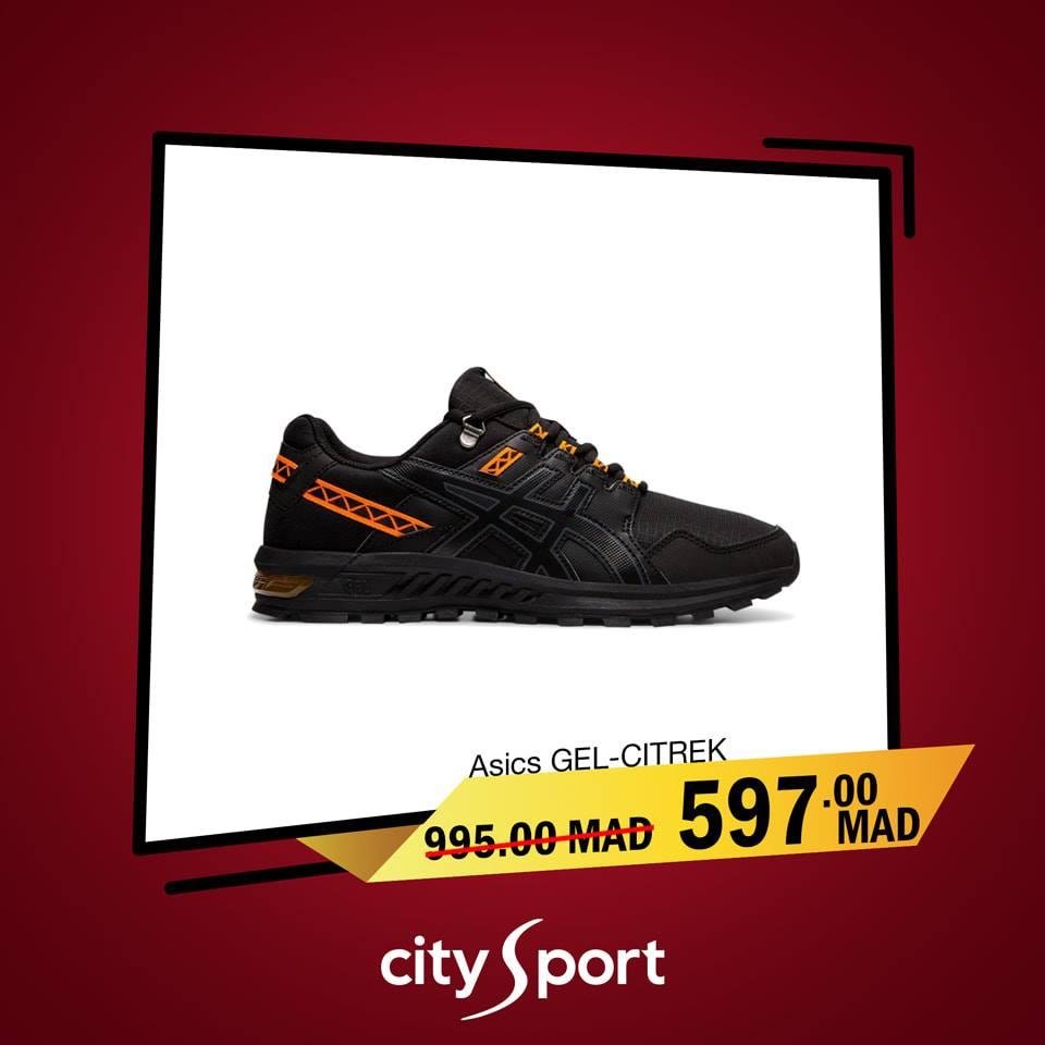 Soldes City Sport ASICS GEL-CITREK 597Dh au lieu de 995Dhs